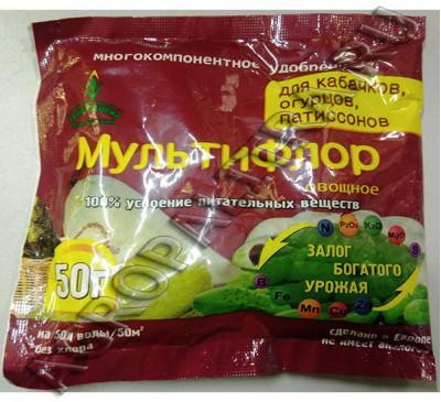 МультиФлор овощное для кабачков, огурцов 50 г