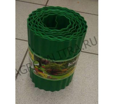 Бордюрная лента гофрированная зеленая