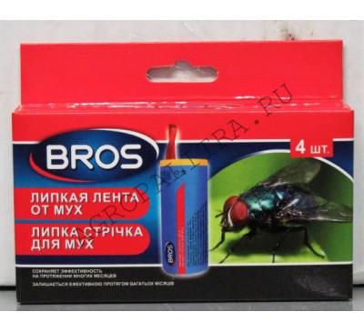 BROS липкая лента от мух, 4 шт