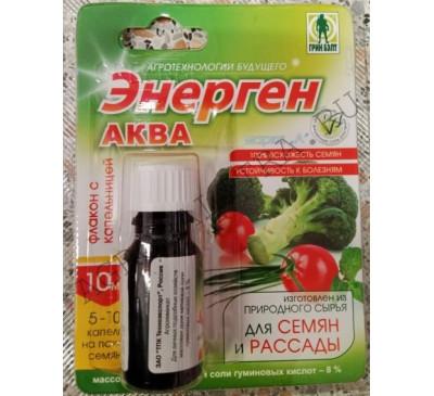 Энерген Аква для замачивания семян (гумат калия) 10 мл